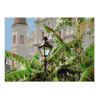 Jackson Square Lamp Post Poster