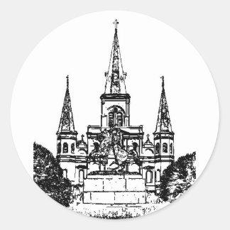 Jackson Square, New Orleans, LA Classic Round Sticker