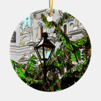Jackson Square New Orleans Lamp Post Ceramic Ornament