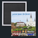 "Jackson Square, New Orleans Magnet<br><div class=""desc"">Jackson Square,  New Orleans Magnet</div>"