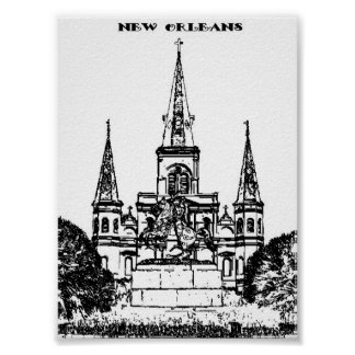 Jackson Square New Orleans Print