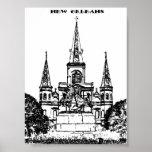 Jackson Square, New Orleans Print