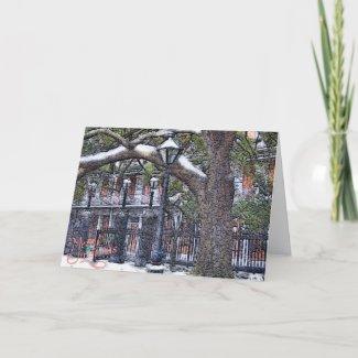 Jackson Square Snow Christmas card
