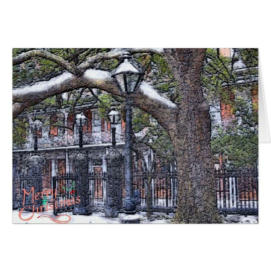 Jackson Square Snow Christmas Card