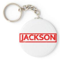 Jackson Stamp Keychain