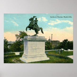 Jackson Statue, Nashville 1918 Vintage print