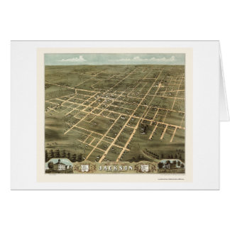 Jackson, TN Panoramic Map - 1870 Card