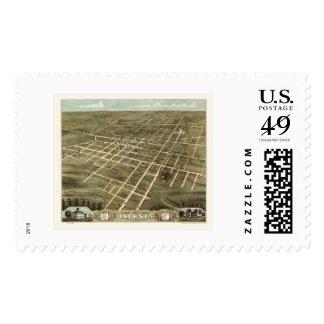 Jackson, TN Panoramic Map - 1870 Stamp