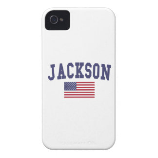 Jackson TN US Flag iPhone 4 Case-Mate Case