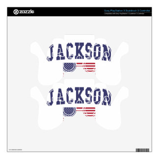 Jackson TN US Flag Skin For PS3 Controller