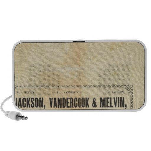Jackson, Vandercook and Melvin Portable Speaker