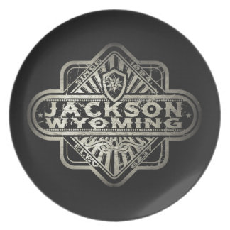 Jackson Vintage Diamond Melamine Plate
