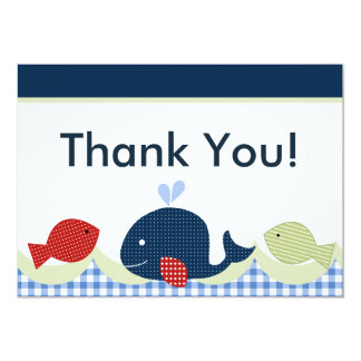Jackson Whale/Fish Baby Shower Thank You Card