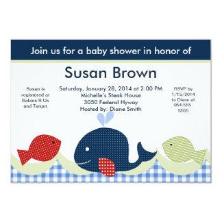 Jackson Whale/Sealife/Fish Baby Shower Invitation