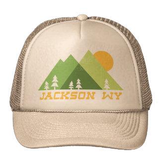 jackson wyoming mountain sun trucker hat