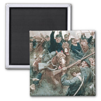 Jackson's Brigade Standing Like a Stone Wall 2 Inch Square Magnet