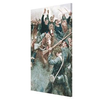 Jackson's Brigade Standing Like a Stone Wall Canvas Print