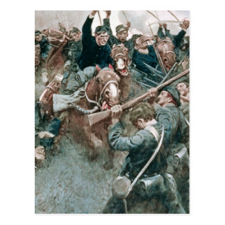 Jackson's Brigade Standing Like a Stone Wall Postcard