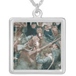 Jackson's Brigade Standing Like a Stone Wall Square Pendant Necklace