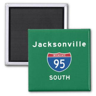 Jacksonville 95 2 inch square magnet