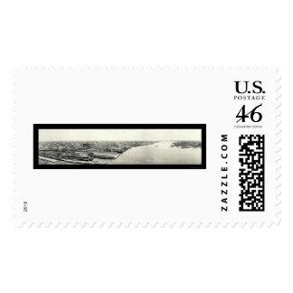 Jacksonville Aerial Photo 1921 Postage Stamps