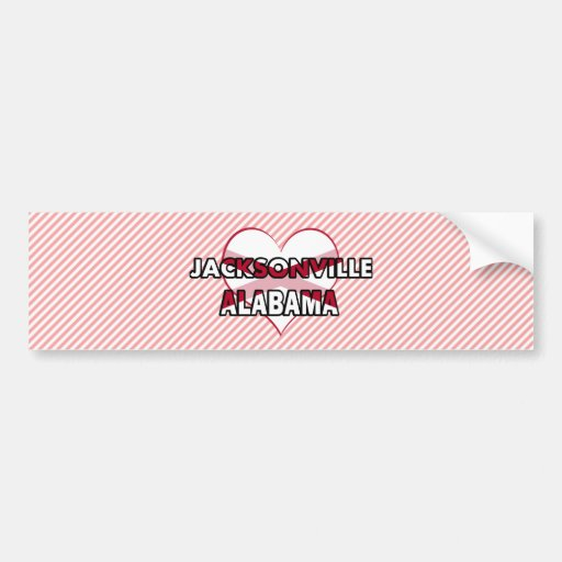Jacksonville, Alabama Car Bumper Sticker