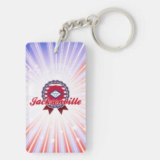 Jacksonville, AR Rectangular Acrylic Keychains
