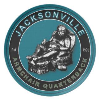 Jacksonville Armchair Quarterback Plate