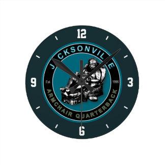 Jacksonville Armchair Quarterback Wall Clock