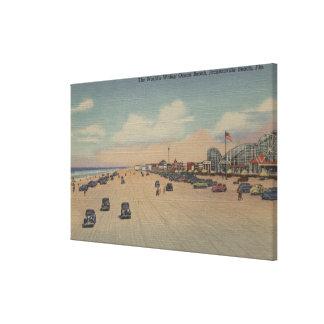 Jacksonville Beach, FL - The world's Widest Ocea Canvas Print