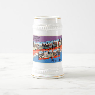 Jacksonville Beach Florida FL Old Travel Souvenir Beer Stein