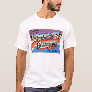 Jacksonville Beach Florida FL Old Travel Souvenir T-Shirt