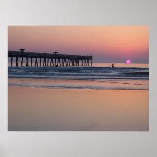 Jacksonville Beach, Florida Sunrise Poster