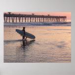 Jacksonville Beach, Florida - Surfing Poster
