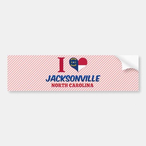 Jacksonville, Carolina del Norte Etiqueta De Parachoque