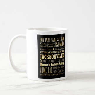 Jacksonville City of Florida State Typography Art Mugs
