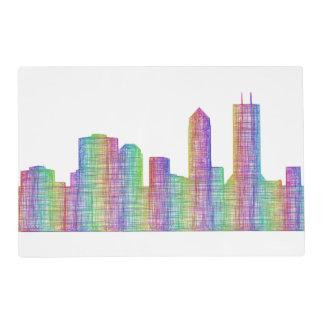 Jacksonville city skyline placemat