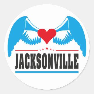 Jacksonville Classic Round Sticker