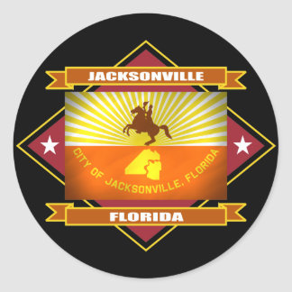 Jacksonville Diamond Classic Round Sticker