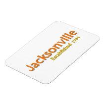 """Jacksonville Established 3""""x4"""" Flexible Magnet"""