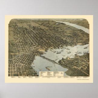 Jacksonville, FL - 1893 Póster