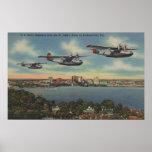 Jacksonville, FL - bombarderos de la marina de gue Poster