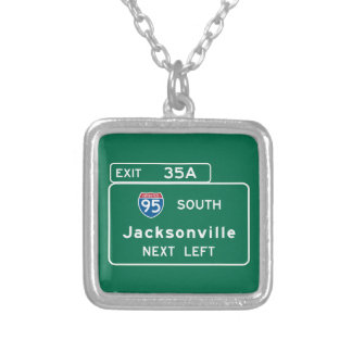 Jacksonville, FL Road Sign Pendant