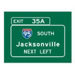 Jacksonville, FL Road Sign Postcard