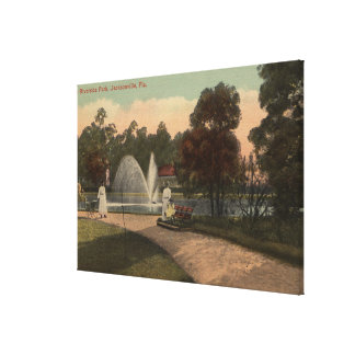 Jacksonville, FL - View of Riverside Canvas Print