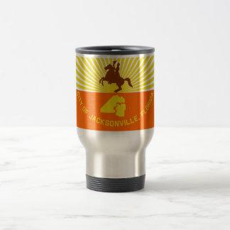 Jacksonville Flag 15 Oz Stainless Steel Travel Mug