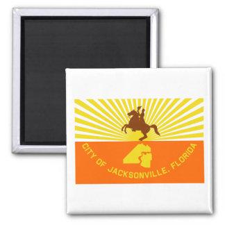 Jacksonville Flag 2 Inch Square Magnet