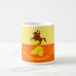 Jacksonville Flag Classic White Coffee Mug