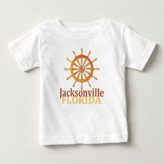 Jacksonville Florida captain's wheel baby tee