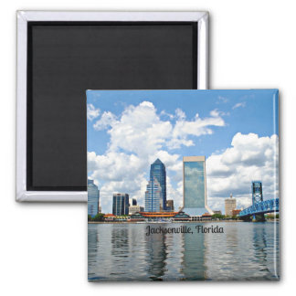 Jacksonville, Florida cityscape Magnets